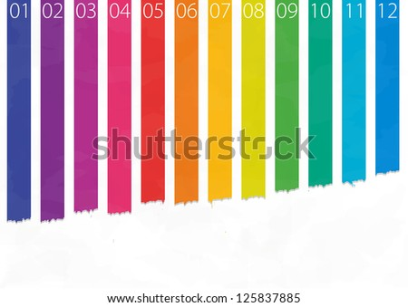 Illustration colorful abstract background - vector