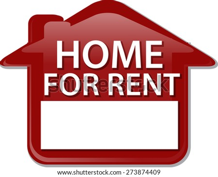 Illustration concept clipart for rent sign house renting vector - stock vector
