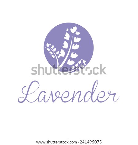 Illustration concept of emblem with lavender. Vector - stock vector