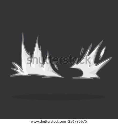 illustration 2d smoke & dust. - stock vector