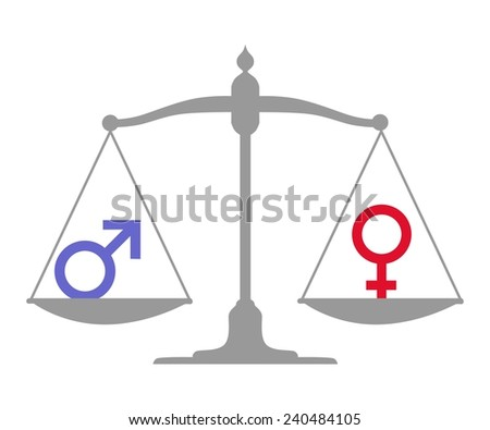 illustration dedicated to gender equality. - stock vector