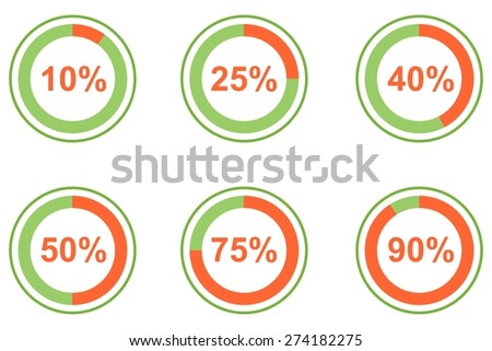 illustration dedicated to the infographics and percentages.  - stock vector