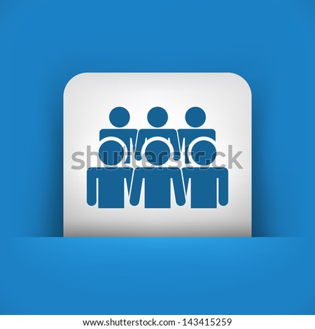 Illustration depicting a social community icon - stock vector