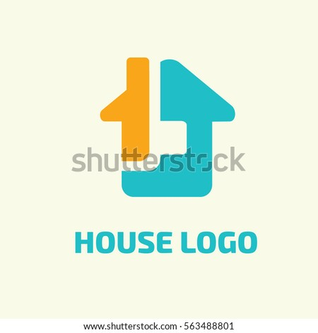 Medical healthcare logo design template vector for Minimalist house logo
