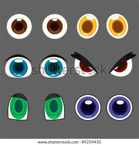 illustration eye set - stock vector