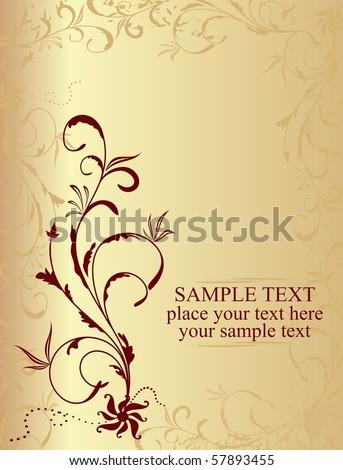 Illustration floral background for design card - vector - stock vector