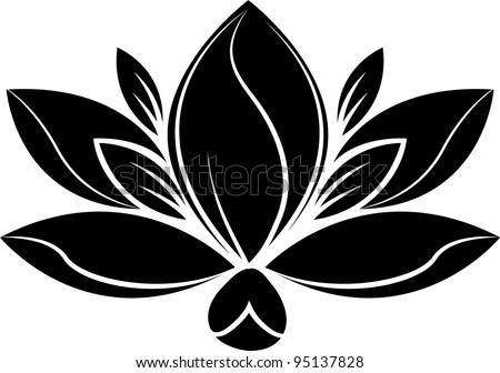 illustration Flower Silhouette - stock vector