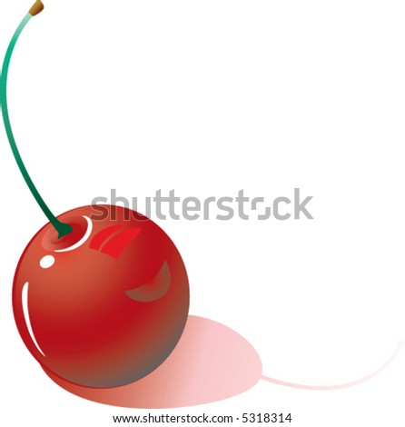 Illustration fo a single cherry