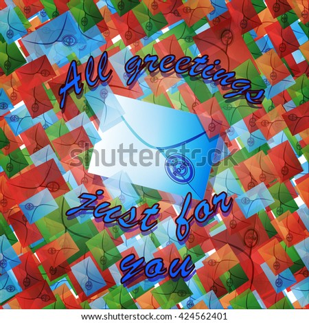 Illustration for congratulation with lots of colored letters and text. - stock vector
