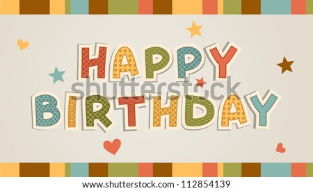 Happy Birthday Letters Vectors on Erfly Vector Illustration