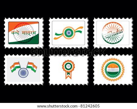 illustration for independence day celebration - stock vector