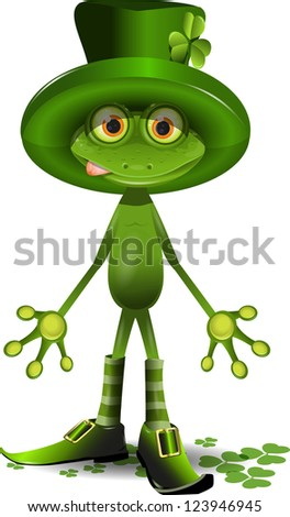 illustration frog and the St. Patrick's Day - stock vector