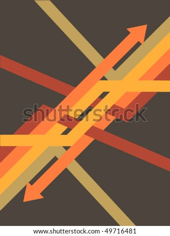 Illustration from color arrows and lines. Minimalism. - stock vector