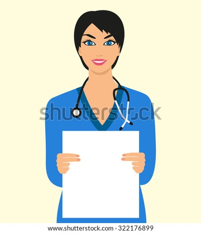 illustration health worker keeps a clean sheet