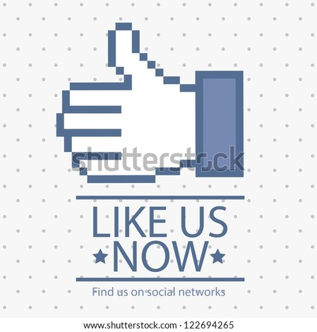 Illustration icon social networks,  Icons, vector illustration - stock vector