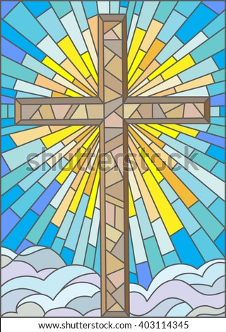 Stained Glass Cross Stock Images Royalty Free Images
