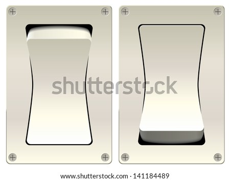 illustration isolated switch two positions of eps 8 / switch vector - stock vector