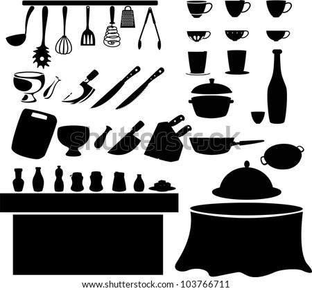 illustration Kitchen tools - stock vector
