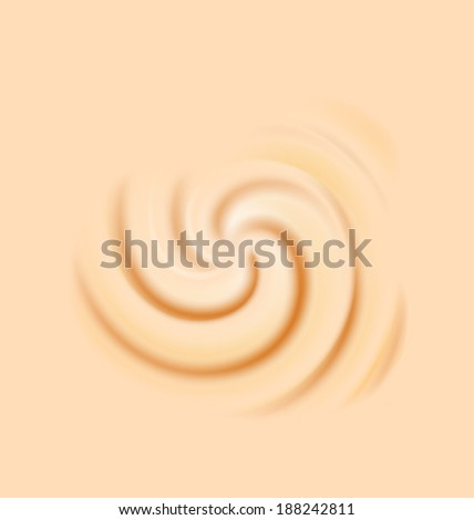 Illustration milk cream texture, creamy sweet surface - vector - stock vector