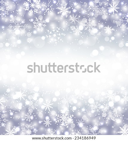 Illustration Navidad purple background with snowflakes and copy space for your text - vector - stock vector