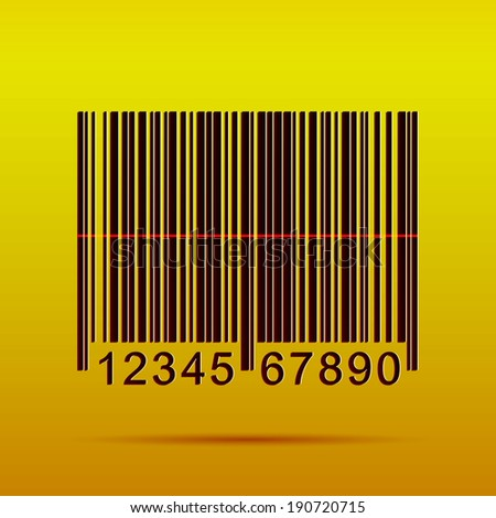 Illustration of a barcode on a colorful background.