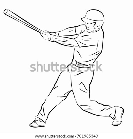 how to draw a baseball player