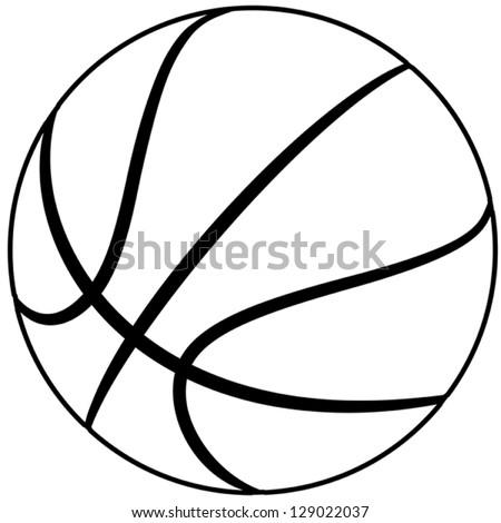 Illustration Basketball Outline Isolated White Background ...