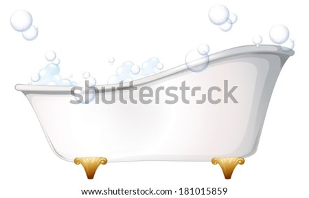 Illustration of a bathtub on a white background - stock vector