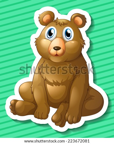 Illustration of a bear sitting