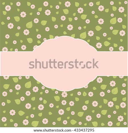 Illustration of a beautiful floral border with flowers for wedding invitations and birthday cards