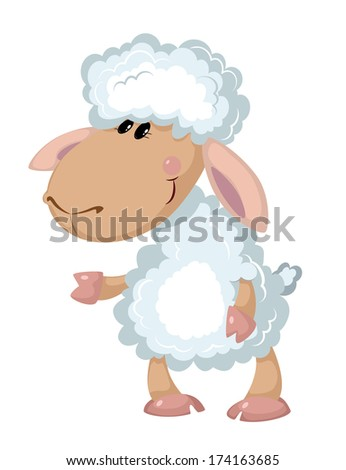 illustration of a beautiful sheep - stock vector