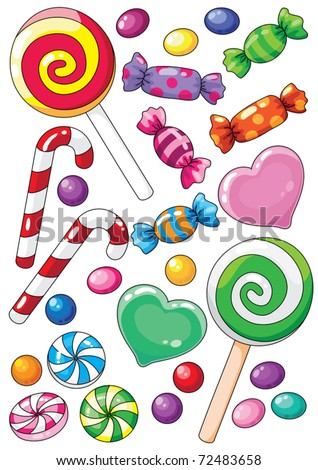 illustration of a beautiful sweets - stock vector