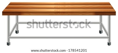 Illustration of a bench on a white background - stock vector