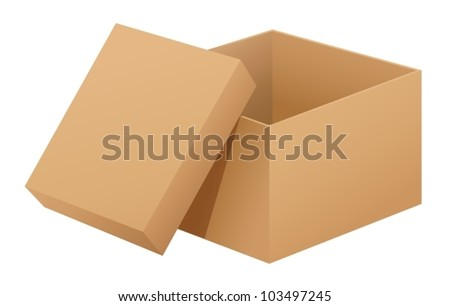 Illustration of a box on white - stock vector