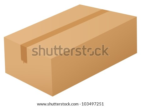 Illustration of a box on white