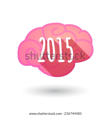Illustration of a brain   year 2015 design