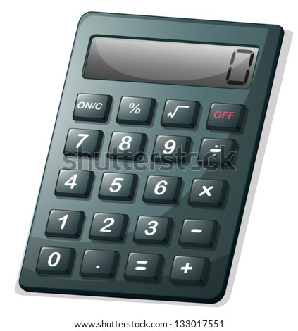 Illustration of a calculator on a white background