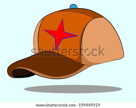 Illustration of a  cap on a blue background  - stock vector