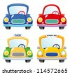 Illustration of a Car set - stock vector