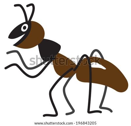 Cartoon black ants - photo#50