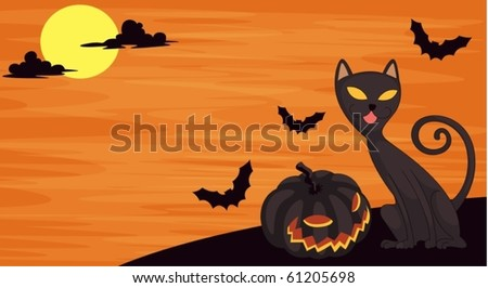 illustration of a cat on a white background - stock vector