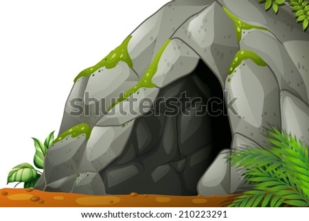 Illustration of a cave - stock vector
