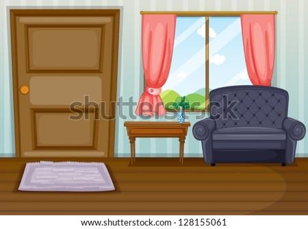 Illustration of a clean living room - stock vector