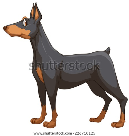 illustration of a close up dog - stock vector