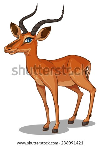 Illustration of a close up gazelle - stock vector