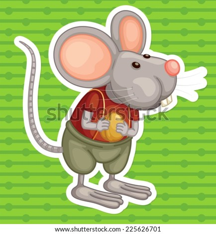Illustration of a close up mouse - stock vector