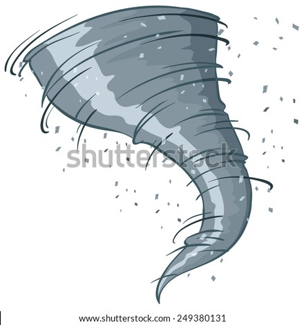 Illustration of a close up tornado - stock vector