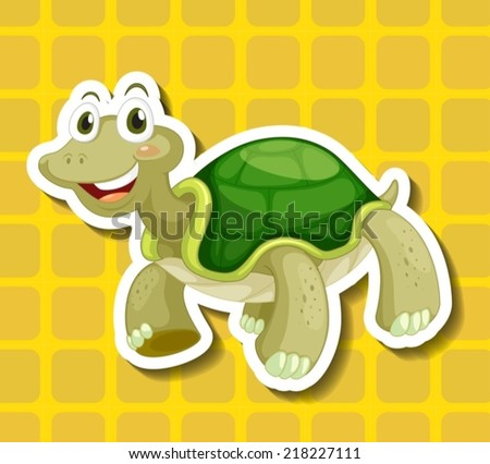 Illustration of a close up turtle