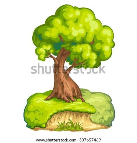 Illustration of a closeup tree - stock vector