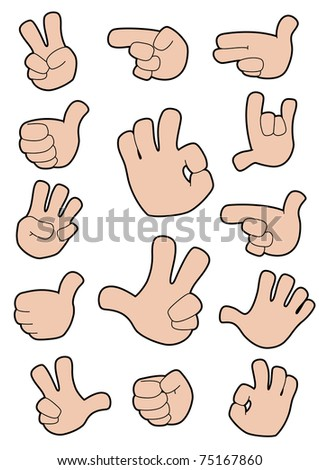illustration of a collection of gestures